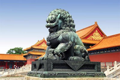 china trip lion statue